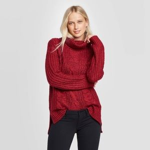 Red Turtleneck Sweater.
